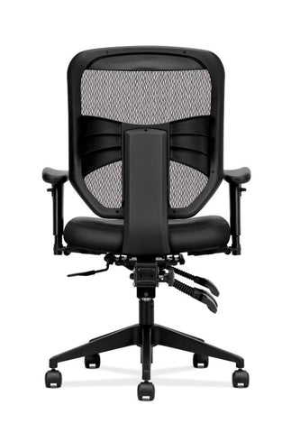 HON Prominent Mesh High-Back Task Chair | Asynchronous Control, Seat Glide | 2-Way Arms | Black Leather ; UPC: 191734881413 ; Image 5