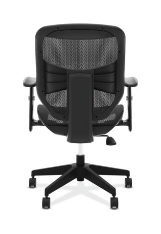 HON Prominent Mesh High-Back Task Chair | Center-Tilt, Tension, Lock | Adjustable Arms | Black Mesh ; UPC: 191734981632 ; Image 5