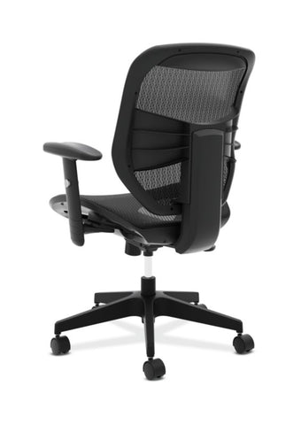 HON Prominent Mesh High-Back Task Chair | Center-Tilt, Tension, Lock | Adjustable Arms | Black Mesh ; UPC: 191734981632 ; Image 6