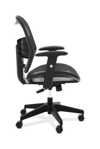 HON Prominent Mesh High-Back Task Chair | Center-Tilt, Tension, Lock | Adjustable Arms | Black Mesh ; UPC: 191734981632 ; Image 3