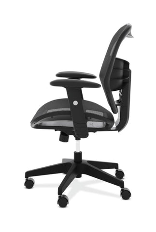 HON Prominent Mesh High-Back Task Chair | Center-Tilt, Tension, Lock | Adjustable Arms | Black Mesh ; UPC: 191734981632 ; Image 4