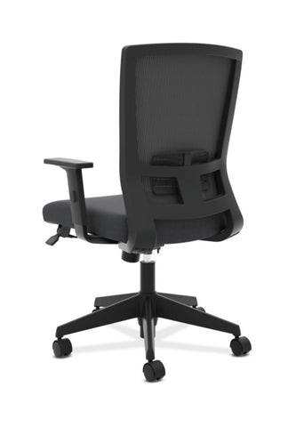 HON Mesh High-Back Task Chair | Center-Tilt, Tension, Lock, Adjustable Lumbar | Adjustable Arms | Black Fabric ; Image 5