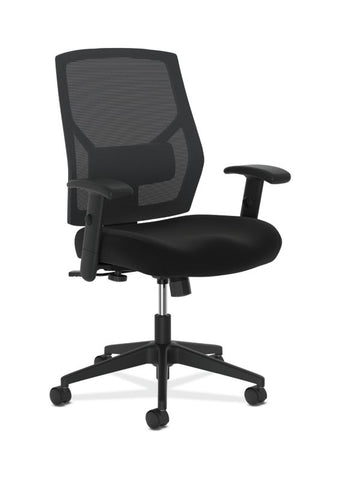 HON Crio High-Back Task Chair | Mesh Back | Adjustable Arms | Adjustable Lumbar | Black Fabric ; UPC: 888852487954 ; Image 1