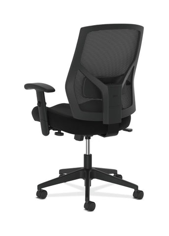 HON Crio High-Back Task Chair | Mesh Back | Adjustable Arms | Adjustable Lumbar | Black Leather ; UPC: 089191555841 ; Image 5