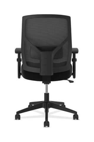 HON Crio High-Back Task Chair | Mesh Back | Adjustable Arms | Adjustable Lumbar | Black Leather ; UPC: 089191555841 ; Image 3
