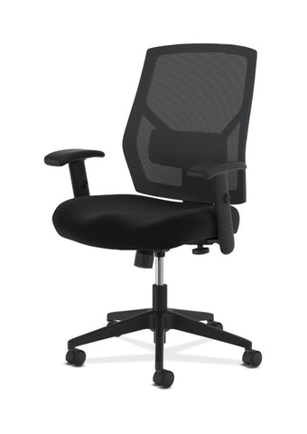 HON Crio High-Back Task Chair | Mesh Back | Adjustable Arms | Adjustable Lumbar | Black Leather ; UPC: 089191555841 ; Image 6
