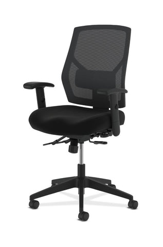 HON Crio High-Back Task Chair | Mesh Back | Adjustable Arms | Asynchronous Control | Adjustable Lumbar | Black Leather ; UPC: 888531612196 ; Image 6
