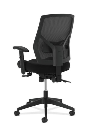 HON Crio High-Back Task Chair | Mesh Back | Adjustable Arms | Asynchronous Control | Adjustable Lumbar | Black Leather ; UPC: 888531612196 ; Image 5