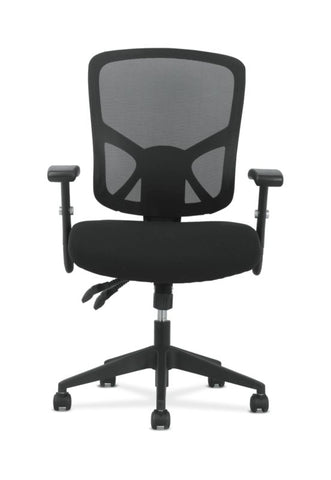 Sadie High-Back Task Chair | Height Adjustable Arms | Height Adjustable Back | Black Mesh Back ; UPC: 089192390885 ; Image 5