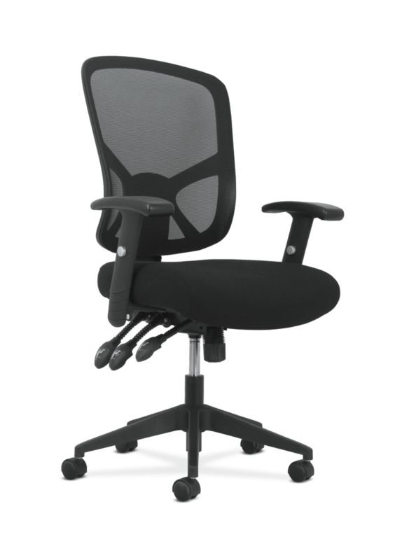 Sadie High-Back Task Chair | Height Adjustable Arms | Height Adjustable Back | Black Mesh Back ; UPC: 089192390885 ; Image 1
