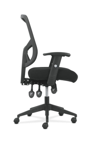 Sadie High-Back Task Chair | Height Adjustable Arms | Height Adjustable Back | Black Mesh Back ; UPC: 089192390885 ; Image 3