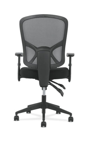 Sadie High-Back Task Chair | Height Adjustable Arms | Height Adjustable Back | Black Mesh Back ; UPC: 089192390885 ; Image 6