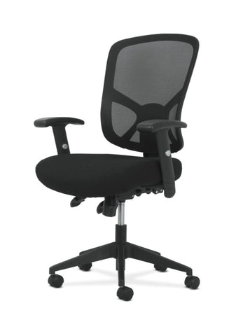 Sadie High-Back Task Chair | Height Adjustable Arms | Height Adjustable Back | Black Mesh Back ; UPC: 089192390885 ; Image 2