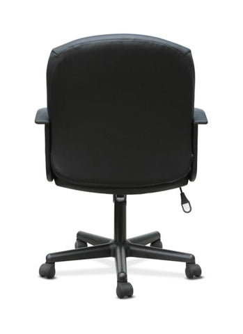HON Mid-Back Chair | Fixed Arms | Black Leather ; UPC: 191734204250 ; Image 6