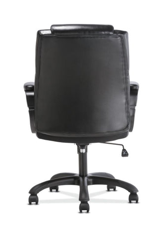 Sadie Mid-Back Executive Chair | Fixed Padded Arms | Black Leather ; UPC: 888206724735 ; Image 6