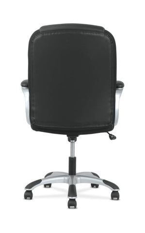 Sadie Mid-Back Executive Chair | Padded Arms | Black Leather | Silver Accents ; UPC: 888206724827 ; Image 6