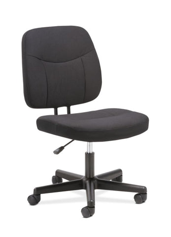 HON Task Chair | Armless | Black Fabric ; UPC: 888206775959 ; Image 1