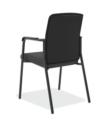 HON Instigate Mesh Back Stacking Multi-Purpose Chair | Fixed Arms | Black Fabric ; Image 6