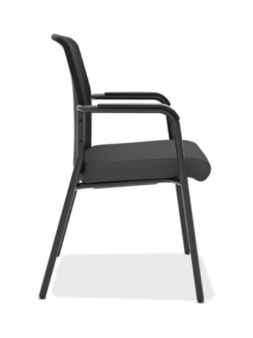 HON Instigate Mesh Back Stacking Multi-Purpose Chair | Fixed Arms | Black Fabric ; Image 3