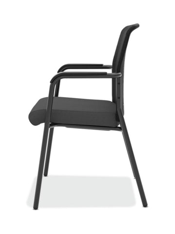 HON Instigate Mesh Back Stacking Multi-Purpose Chair | Fixed Arms | Black Fabric ; Image 4