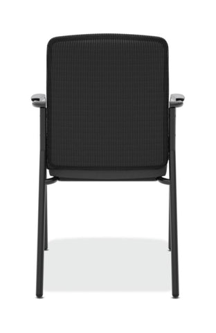 HON Instigate Mesh Back Stacking Multi-Purpose Chair | Fixed Arms | Black Fabric ; Image 5