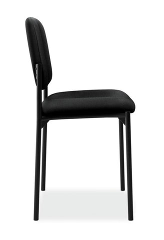 HON Scatter Stacking Guest Chair | Black Fabric ; UPC: 645162996190 ; Image 3