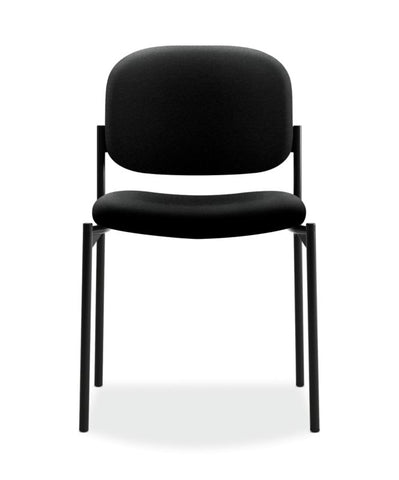 HON Scatter Stacking Guest Chair | Black Fabric ; UPC: 645162996190 ; Image 2