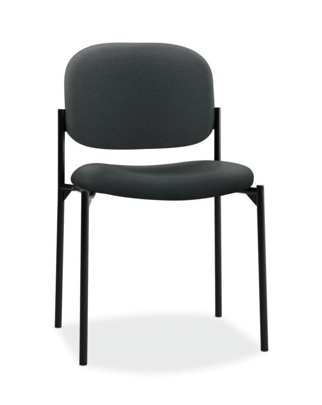 HON Scatter Stacking Guest Chair | Charcoal Fabric ; UPC: 645162996213 ; Image 1