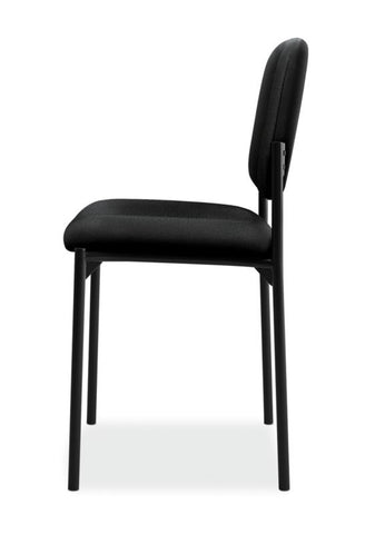 HON Scatter Stacking Guest Chair | Black Fabric ; UPC: 645162996190 ; Image 4