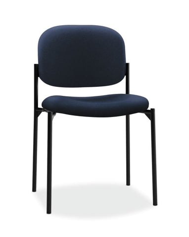 HON Scatter Stacking Guest Chair | Navy Fabric ; UPC: 782986472216 ; Image 1