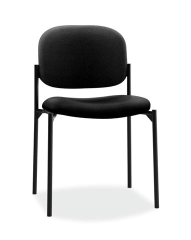 HON Scatter Stacking Guest Chair | Black Fabric ; UPC: 645162996190 ; Image 1