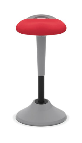HON Perch | 360-Degree Swivel | Silver Base | Red Fabric ; UPC: 745123542678 ; Image 4