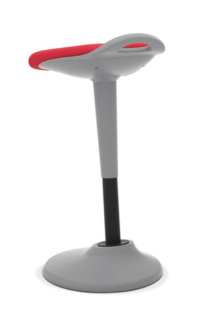 HON Perch | 360-Degree Swivel | Silver Base | Red Fabric ; UPC: 745123542678 ; Image 6