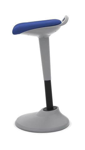HON Perch | 360-Degree Swivel | Silver Base | Blue Fabric ; UPC: 089191451532 ; Image 3