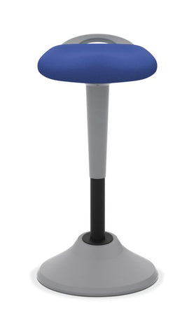 HON Perch | 360-Degree Swivel | Silver Base | Blue Fabric ; UPC: 089191451532 ; Image 4