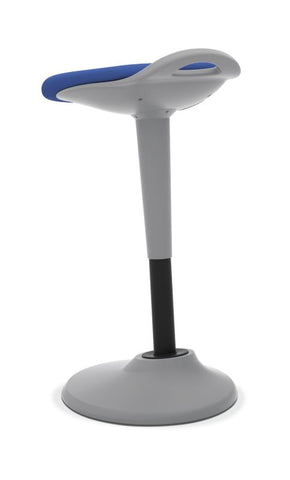 HON Perch | 360-Degree Swivel | Silver Base | Blue Fabric ; UPC: 089191451532 ; Image 5