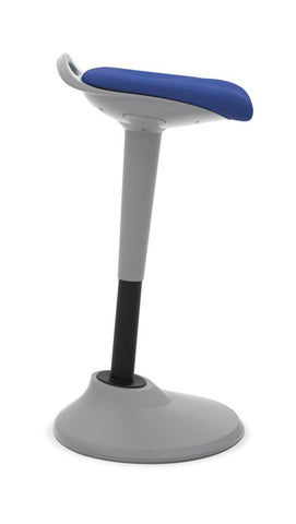 HON Perch | 360-Degree Swivel | Silver Base | Blue Fabric ; UPC: 089191451532 ; Image 2
