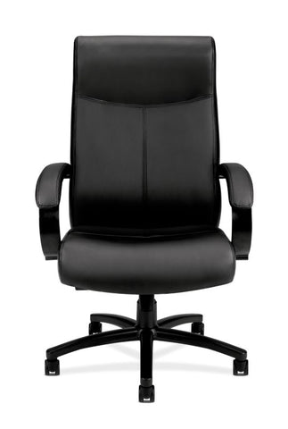 HON Validate Big and Tall Executive Chair | Center-Tilt, Tension, Lock | Black SofThread Leather ; UPC: 889218803579 ; Image 3