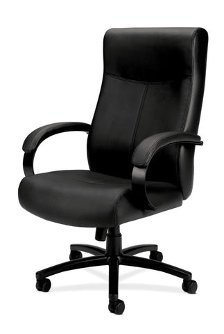 HON Validate Big and Tall Executive Chair | Center-Tilt, Tension, Lock | Black SofThread Leather ; UPC: 889218803579 ; Image 2