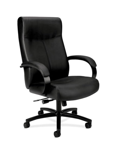 HON Validate Big and Tall Executive Chair | Center-Tilt, Tension, Lock | Black SofThread Leather ; UPC: 889218803579 ; Image 1