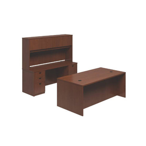 basyx by HON BL Series Executive Workstation in Medium Cherry ; UPC: 0