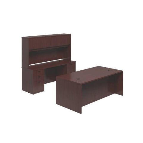 basyx by HON BL Series Executive Workstation in Mahogany ; UPC: 0