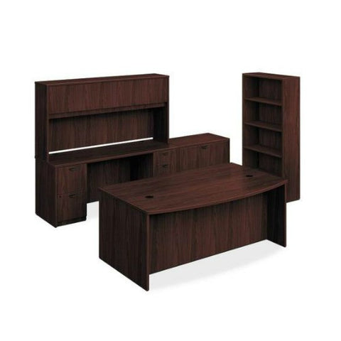 basyx by HON BL Laminate Executive Workstation ; Color: Mahogany; UPC: 0
