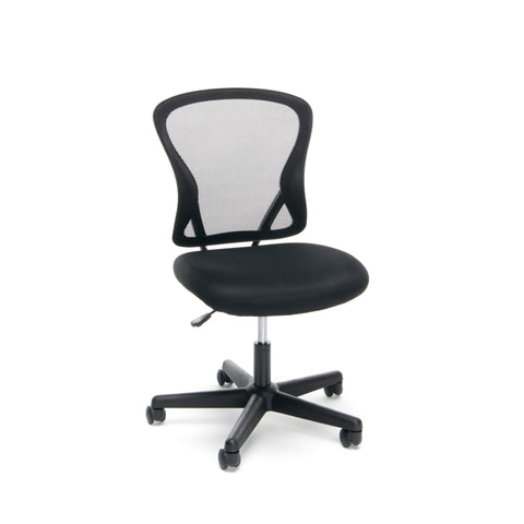 Essentials by OFM ESS-3010 Swivel Mesh Back Armless Task Chair, Mid Back, Black ; UPC: 089191013419 ; Image 1