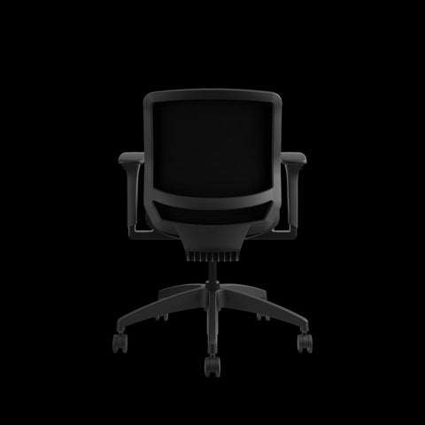 HON Quotient Mid-Back Task Chair with Mesh Back, in Black (HQTMM) ; UPC: 089192690589 ; Image 3