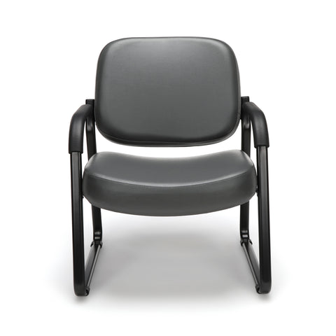 OFM Model 407-VAM Big and Tall Guest and Reception Chair with Arms, Anti-Microbial/Anti-Bacterial Vinyl, Charcoal ; UPC: 845123028605 ; Image 2