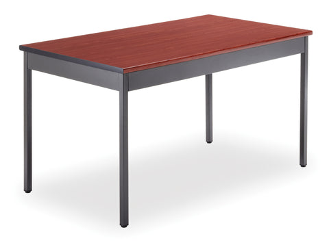 "OFM Model UT3048 30"" x 48"" Multi-Purpose Utility Table, Cherry ; UPC: 811588013135 ; Image 1"