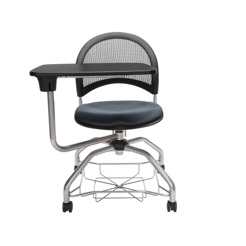 OFM Moon Foresee Series Tablet Chair with Removable Fabric Seat Cushion - Student Desk Chair, Slate Gray (339T) ; UPC: 845123094686 ; Image 2