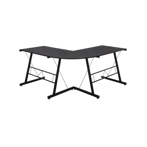 "OFM Essentials Collection 60"" Metal Frame L-Shaped Desk, Corner Computer Desk, in Black (ESS-1021 -BLK-BLK) ; UPC: 192767000079 ; Image 3"