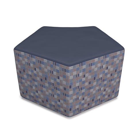 OFM Quin Series Model 55 Polyurethane Stool, Navy with Blue Jay ; UPC: 845123080269 ; Image 1
